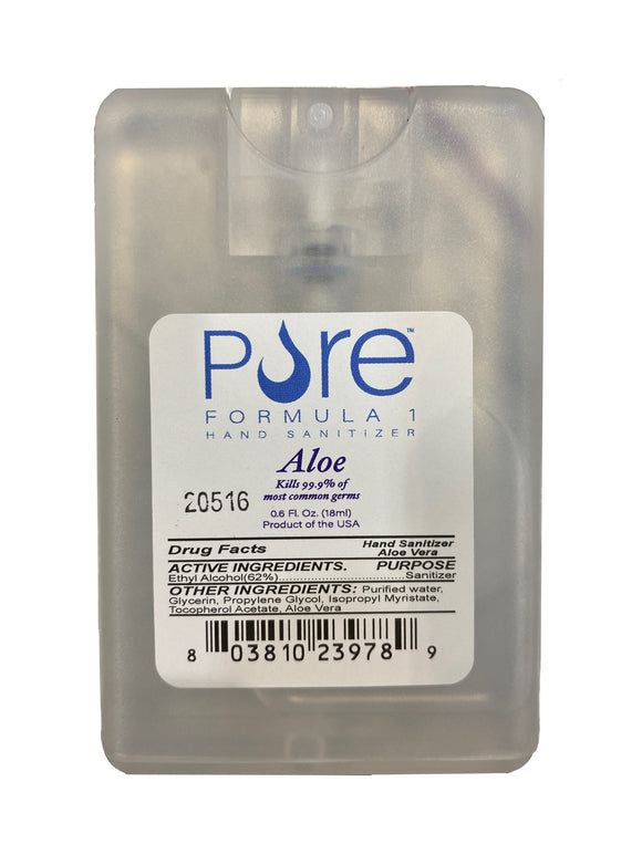 Pure Formula 1 Pocket Hand Sanitizer Spray – 0.6oz