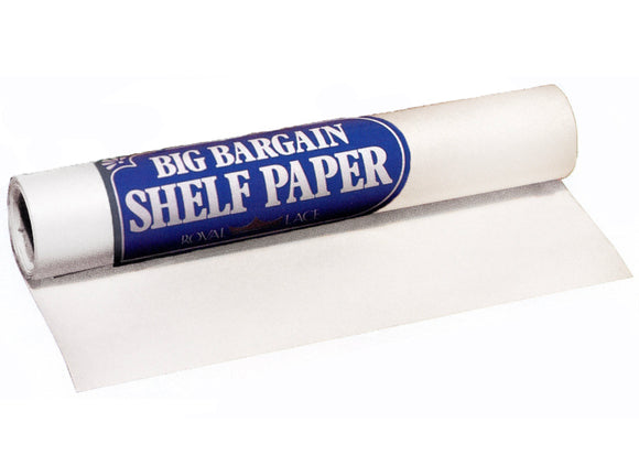 Heavy Duty Shelf Lining Paper Roll – White – 13
