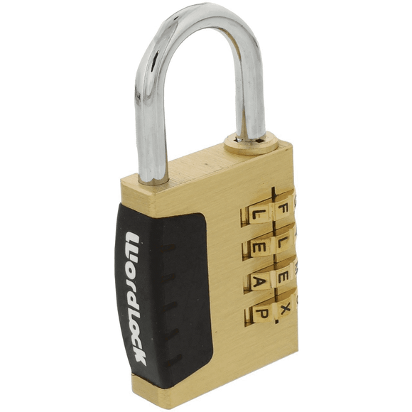 Wordlock Solid-Brass 4-Dial Sport Padlock