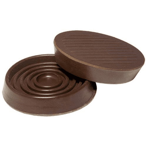 Round Rubber Caster Cups – Pack of 4