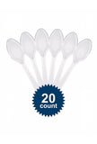 Disposable Plastic Spoons – Pack of 20