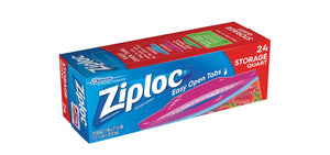 Ziploc Storage Bags Quart, 24 Count