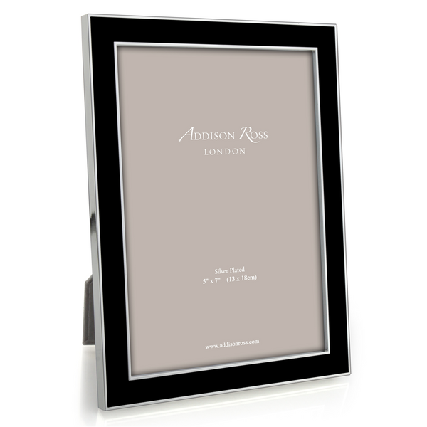 "Addison Ross Black Enamel Photo Frame, 5"" x 7"""