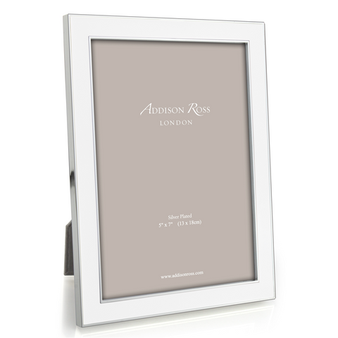 "Addison Ross White Enamel Photo Frame, 5"" x 7"""