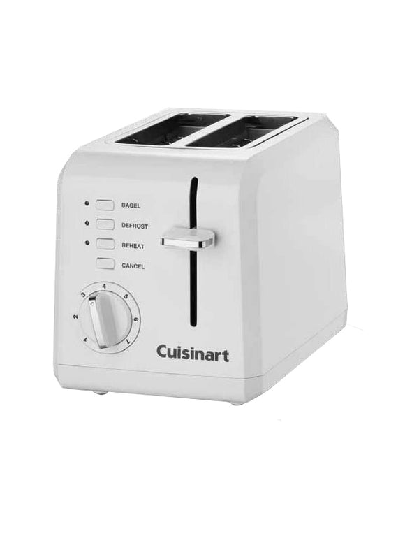 Cuisinart 2 Slice Compact Plastic Toaster – White