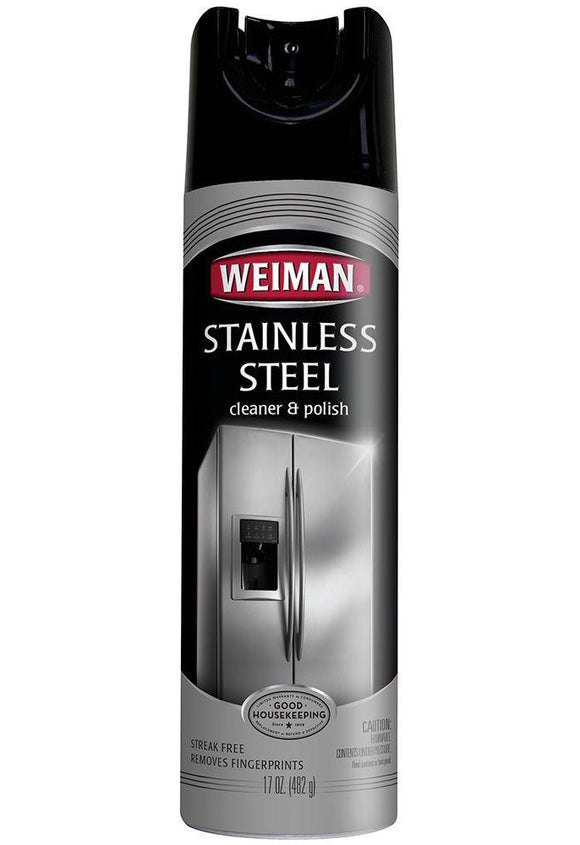 Weiman Stainless Steel Cleaner & Polish Aerosol Spray - 17oz