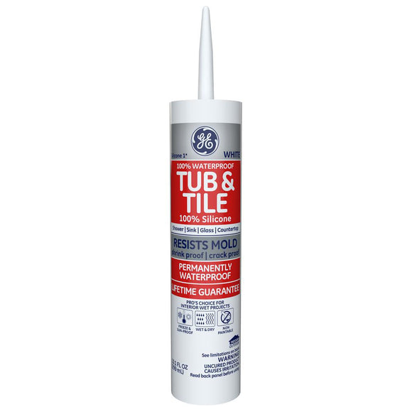 Tub & Tile Silicone Caulk – White