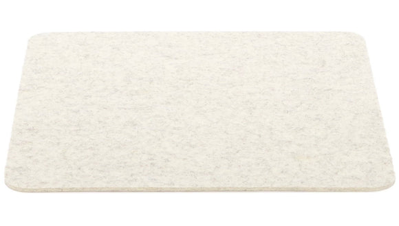 Graf Lantz Large Felt Tile Trivet – Heather White – 12x12in