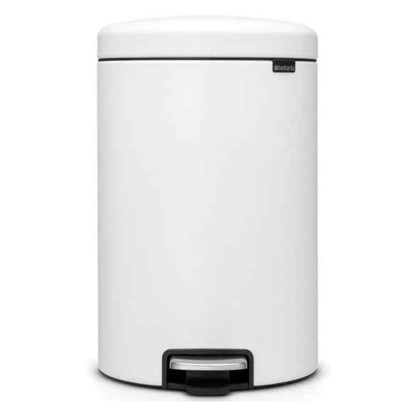 Brabantia NewIcon Step Trash Can – White – 0.8 Gal.