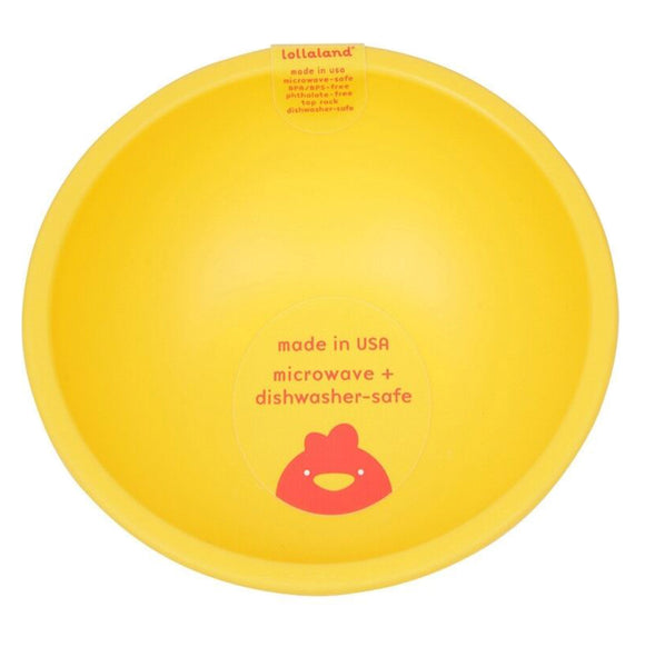 Lollaland Plastic Bowl – Yellow