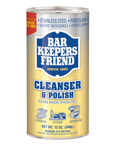 Bar Keepers Friend Cleanser & Polish, Powder - 12 oz