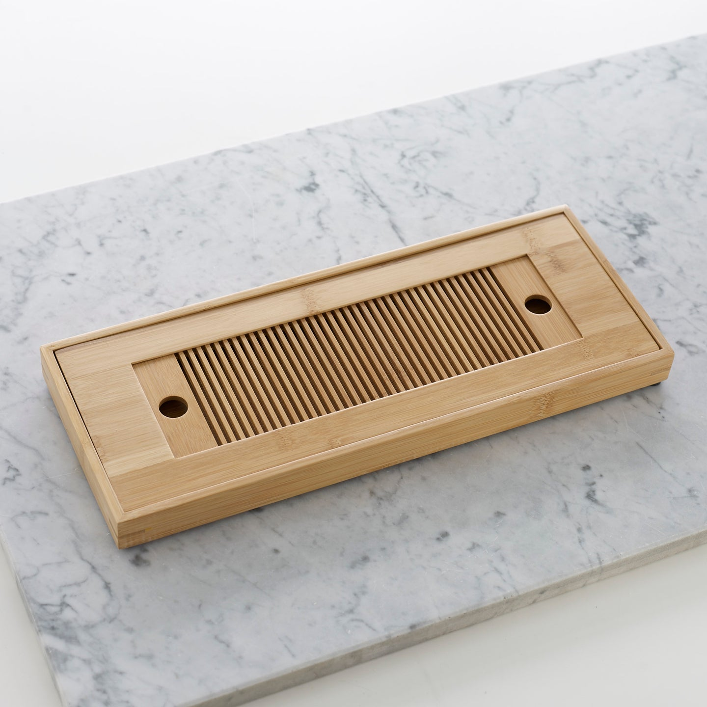 Refined bamboo tea tray
