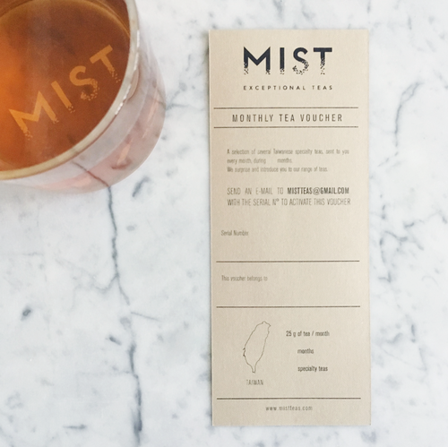 MIST tea voucher  3 , 6 or 12 months