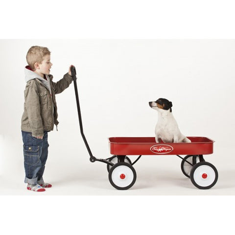 Toby Classic Pull Along Red Wagon / Cart / Trolley / Truck / Ride on Toy