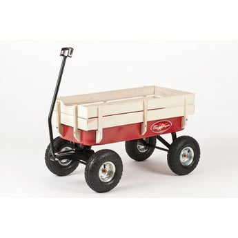 BACKORDER SALE Save €25 - Only €84 - All Terrain Pull Along Red Wagon / Cart / Trolley / Truck