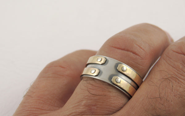 Unique gold wedding bands