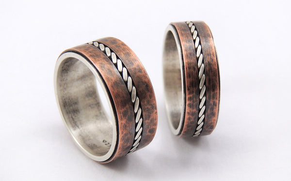 Unique wedding rings set