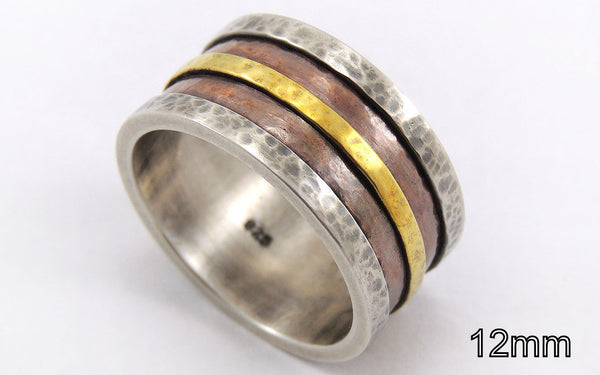 Rustic mens wedding band - customized