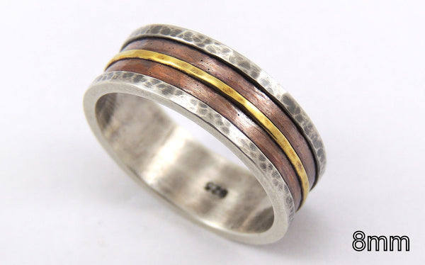 Mens wedding band ring - customized