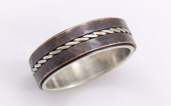 Unique mens wedding ring