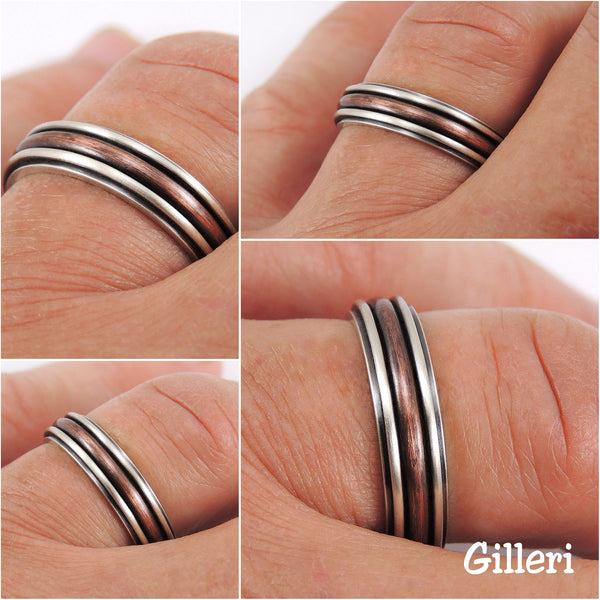 Thin wedding band for men or women