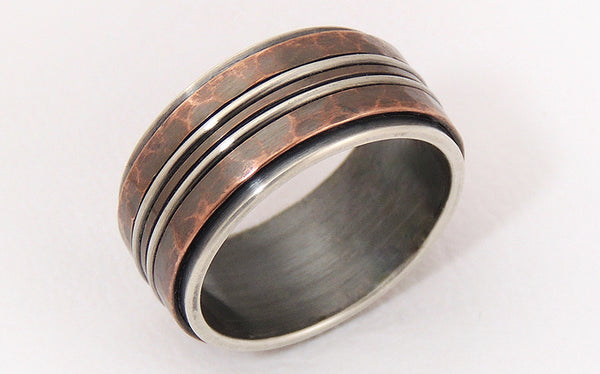 mens rustic wedding bands