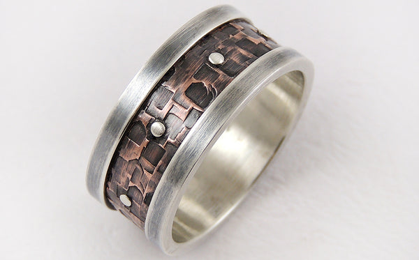 Discover this unique handmade men's ring