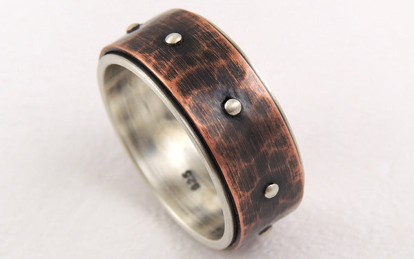 Rustic Wedding Band for Men, Uniquely Handmade to get this steampunk character