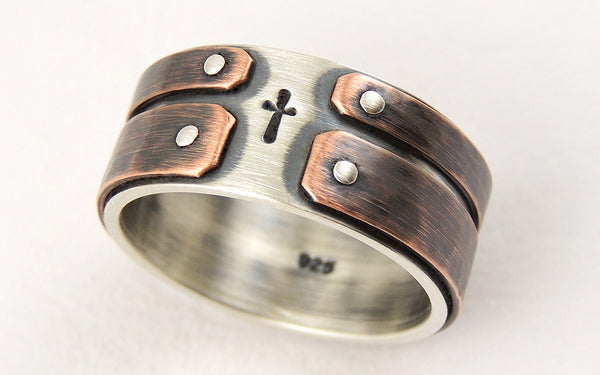 Unique engagement mens ring