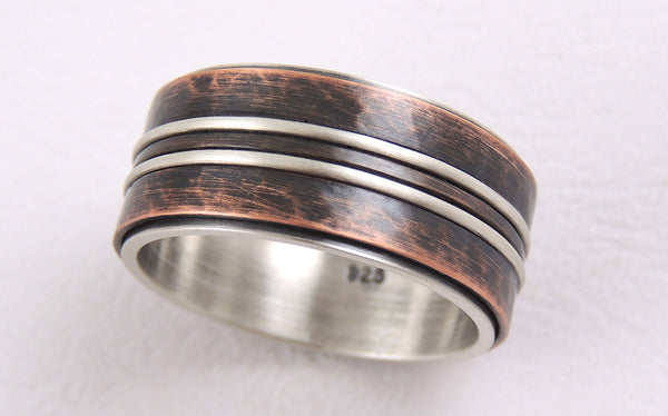 Unique mens engagement band