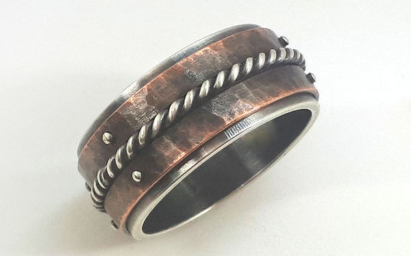 Mens copper wedding band