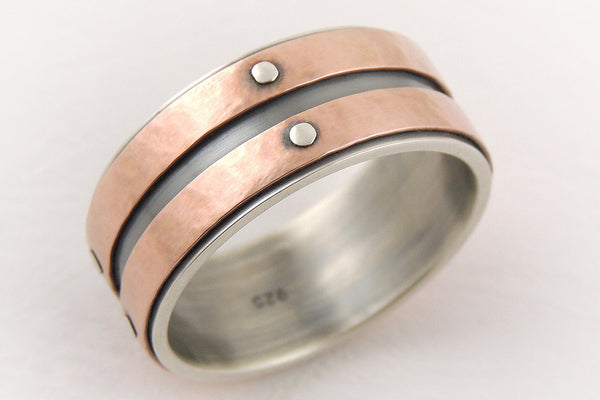 Mens gold engagement ring