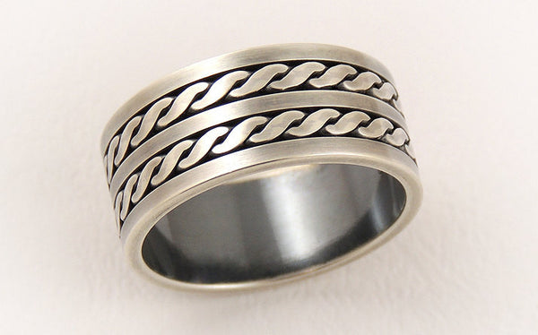 Sterling silver man's wedding ring