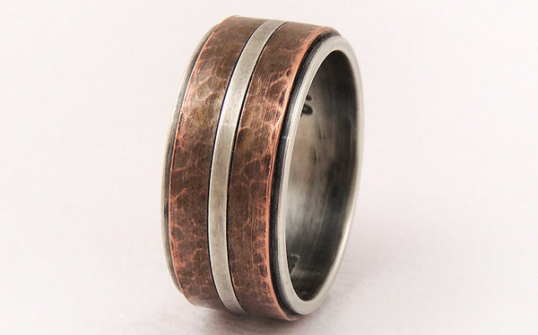 Wedding band ring for men