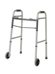 Cardinal Health Two-Button Folding Wheeled Walker