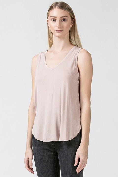 Everyday V-Neck Tank in Blush - Nell and Rose