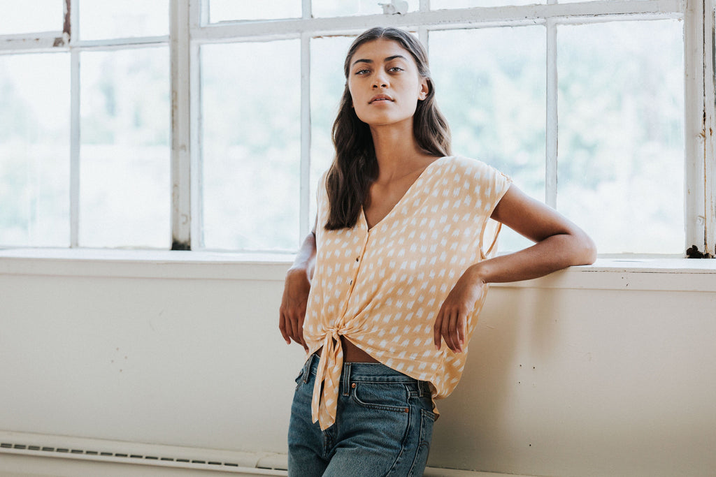 Indie Tie Top - Nell and Rose