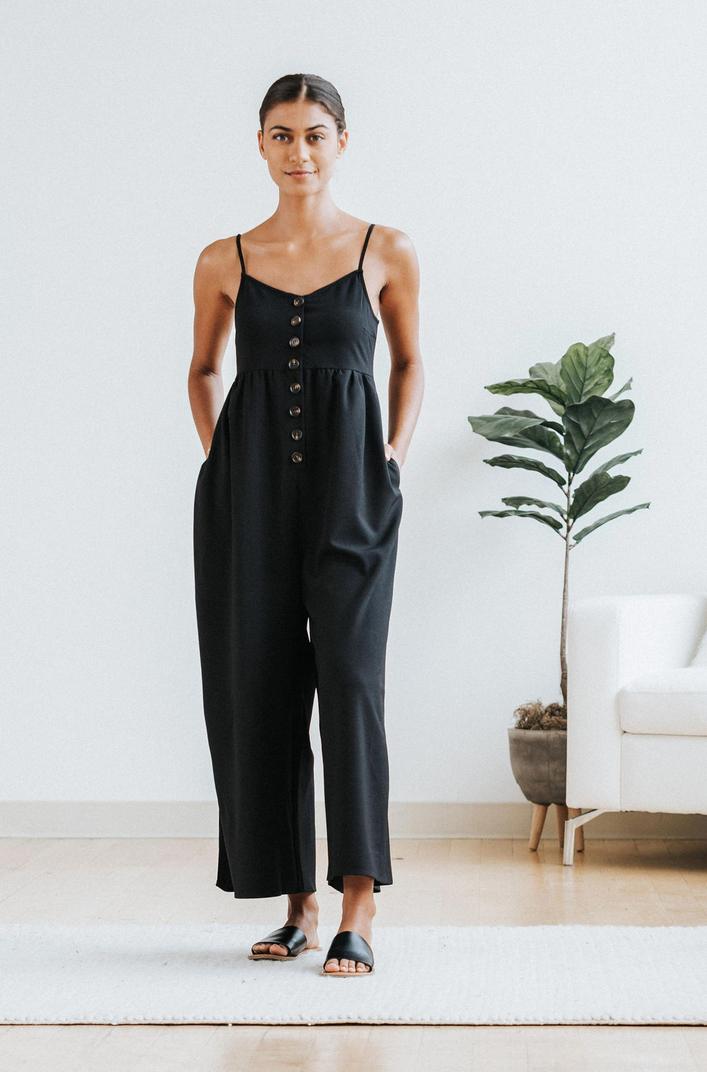 Hattie Jumpsuit in Black - Nell and Rose