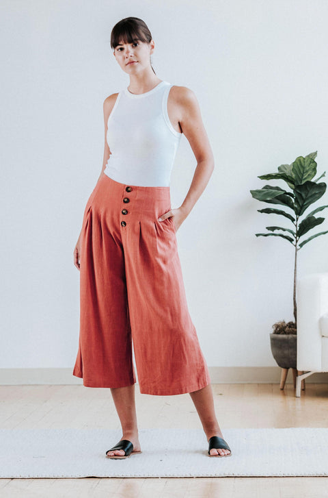 Kylie Wide-Leg Pants - Nell and Rose