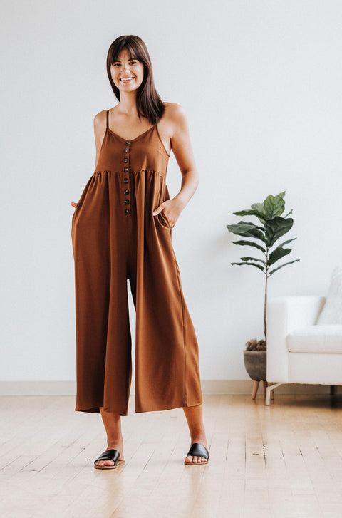 Hattie Jumpsuit in Bronze - Nell and Rose