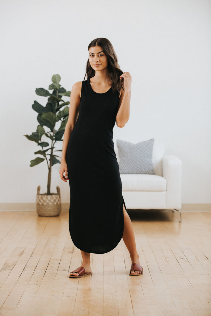 Everyday Midi Dress in Black
