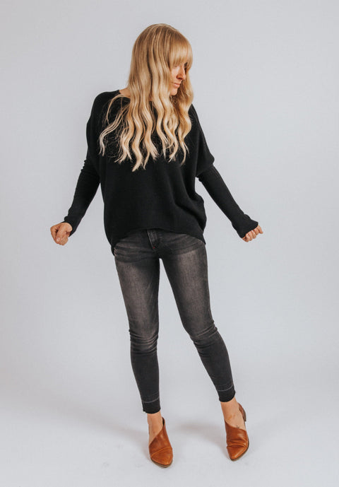 Emery Sweater in Black - Nell and Rose
