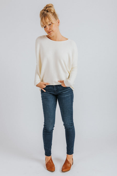 Emery Sweater in Cream - Nell and Rose