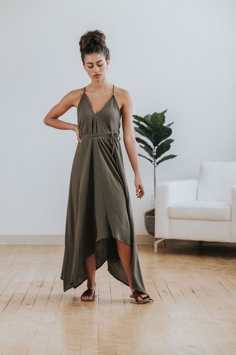 Barcelona Dress in Olive - Nell and Rose