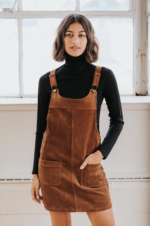Monica Corduroy Jumper in Camel