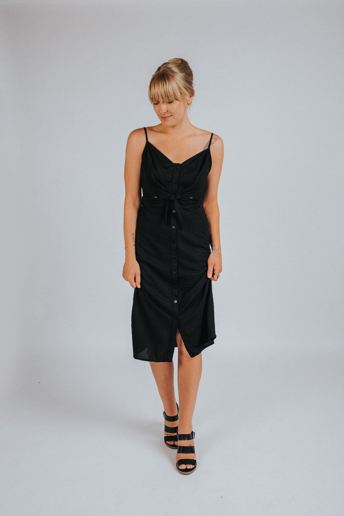 Mila Dress in Black - Nell and Rose