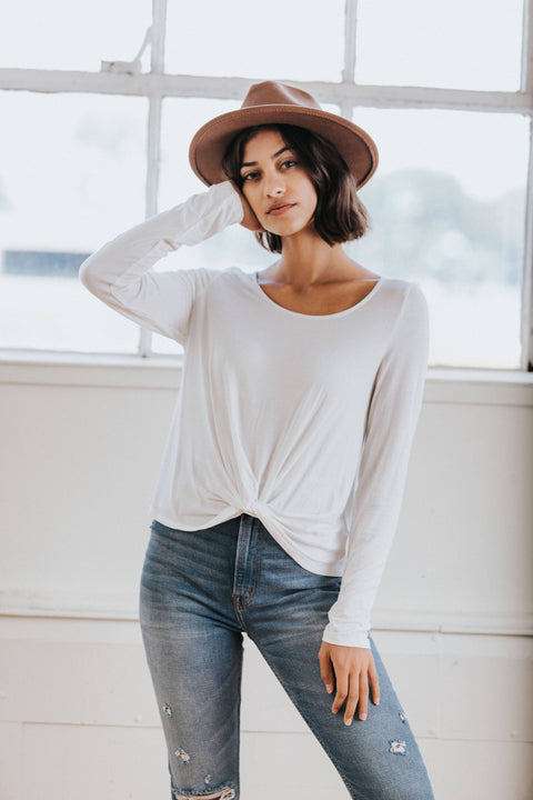 Becca Knot Top in White