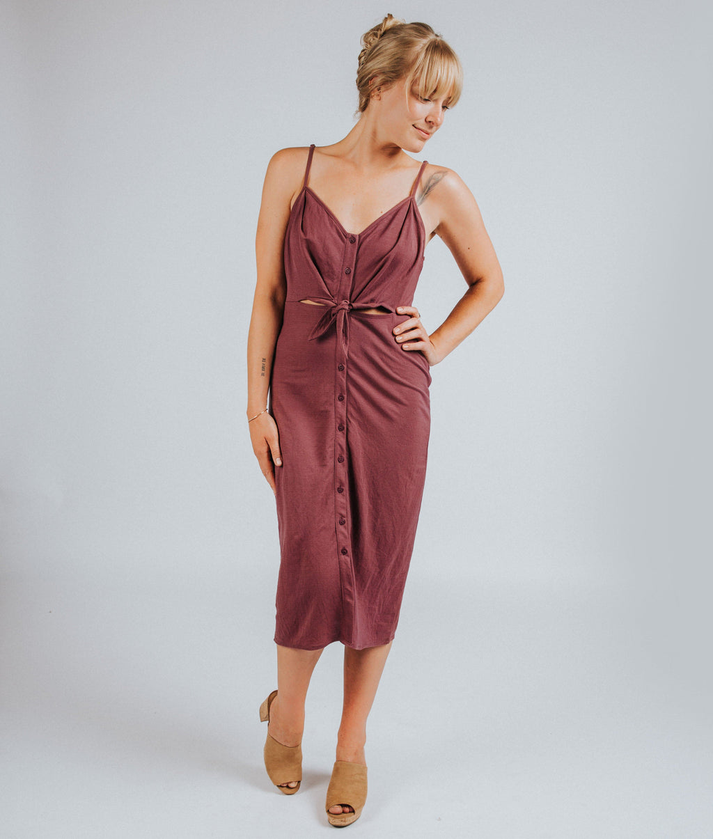 Mila Dress in Mauve - Nell and Rose