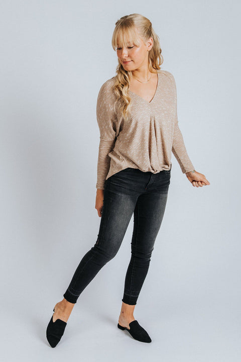 Fiona Top in Taupe - Nell and Rose