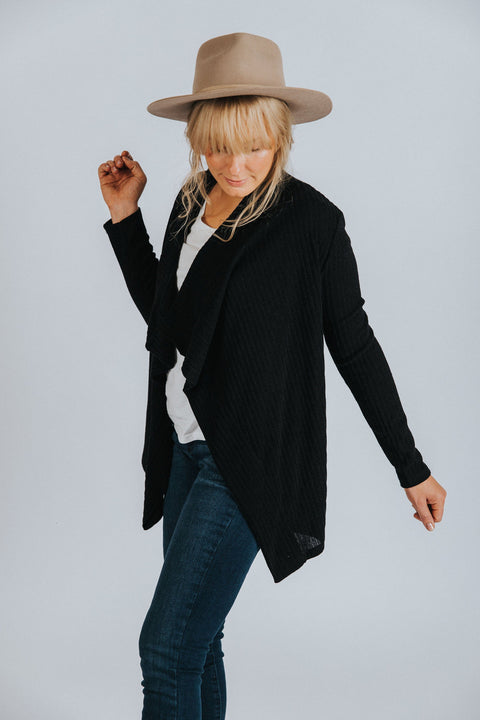 Brooklyn Cardigan in Black - Nell and Rose
